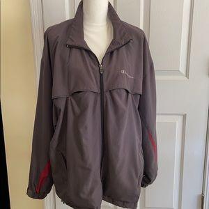 Champion lightweight windbreaker jacket zip front
